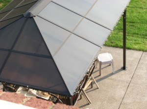 Roof with Tinted Polycarbonate Sheets