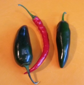 Jalapeno and Cayenne Peppers